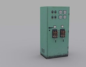 Electrical Panel 3D asset low-poly