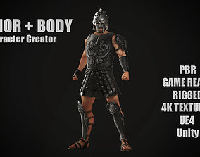 3D asset Roman Gladiator Ancient Warrior MAXIMUS for 2