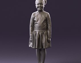 Little girl in pink skirt colored top 0928 3D Print