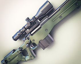 AWM Sniper Rifle Hi-Res 3D
