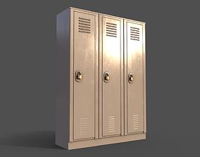 3D asset PBR School Gym Locker 01 - White