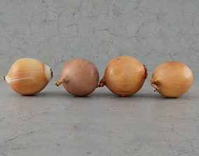 3D model Four onions eating
