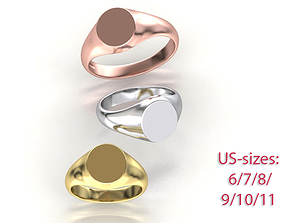 Personalised Engravable Signet ring 3dmodel cad