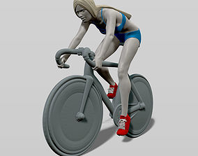 3D print model Girl on a bicycle