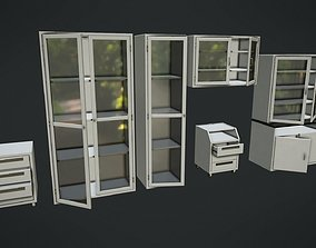 3D model game-ready Laboratory Furniture