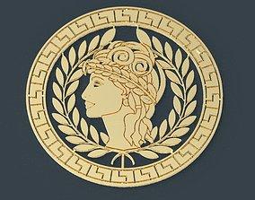 Ornament Greek circular 3 decorative 3D printable model