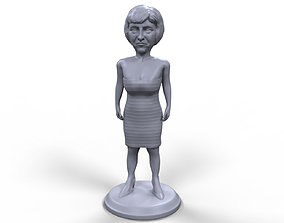 Theresa May stylized high quality 3d printable miniature