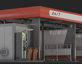 3D model Car wash self-service exterior
