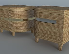 3D asset Bed site table two option