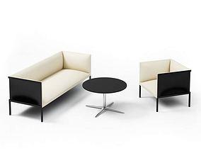 3D model Black And White Furniture Set