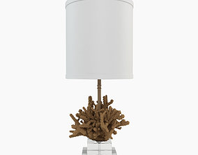 3D model furniture Atlantic Table Lamp with Drum Shade