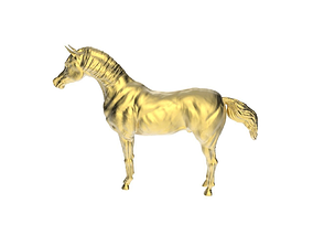 Arabic Horse in standstill position 3D print model