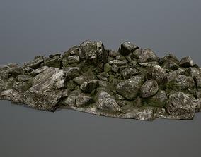 rocks desert 3D model VR / AR ready