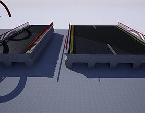 3D asset Modular Bridge Parts