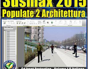 3ds max 2015 Populate 2 Architettura vol animated
