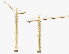 3D model Tower Crane Modular - Yellow