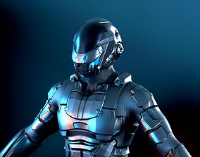 3D asset rigged Space trooper