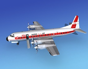 3D Lockheed L-188 Electra HP PSA 1