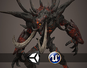 3D model Fire Demon - Animated and Game Ready