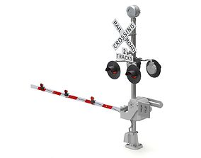 railway Railroad Crossing 3D model