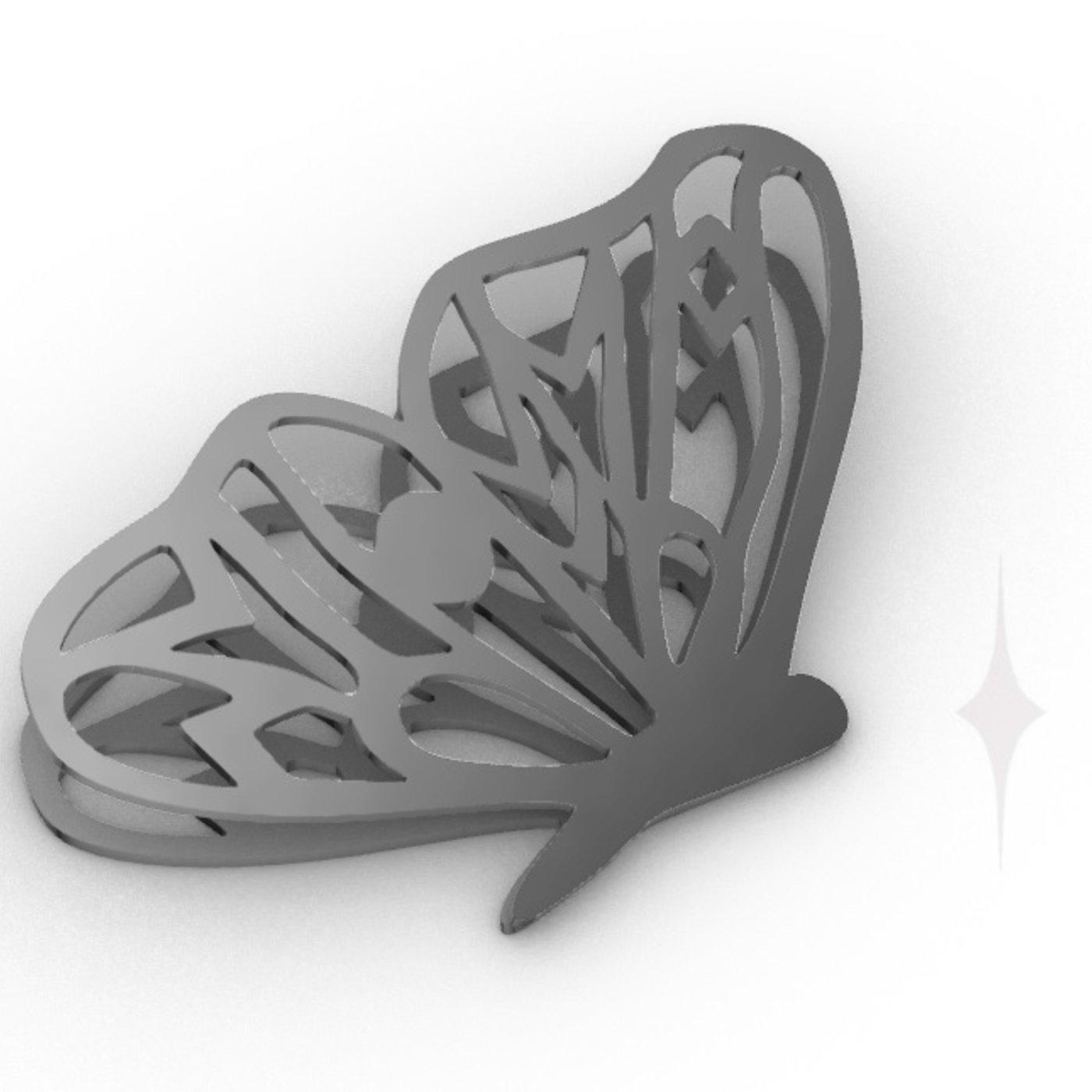 Butterfly earring 3d file
