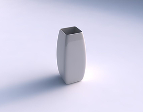 Vase rectangle smooth 3D printable model