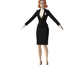 Young Woman with Morphs 3D model