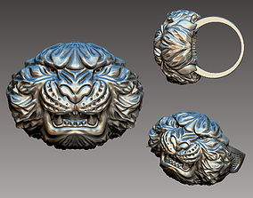 3D print model mammal Tiger Ring