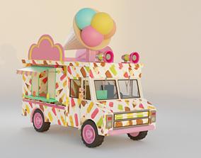 3D Ice cream van Rail