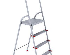 3D model Folding metal ladder