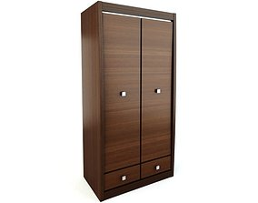 Cabinet Wooden Compartments 3D