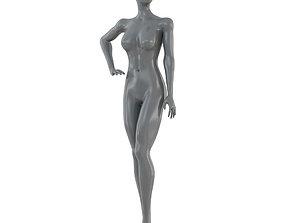 3D model Female gray mannequin 86