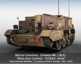 gun 3D model Bren Gun Carrier MK I - BUC - T12642