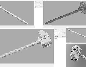 Weapon - hammer 3D print model