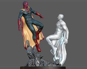3D printable model VISION VS WHITE VISION FROM MARVEL 2