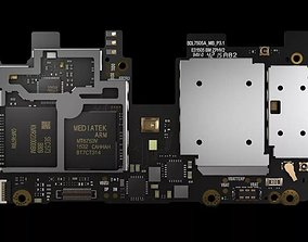 3D Phone Integrated Circuit Board Modelcell phone C4D