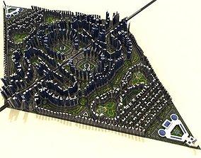 Cityscape 3D model realtime