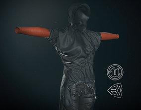 3D asset Female Ninja Outfit 2