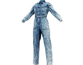 3D Jeans Salopet