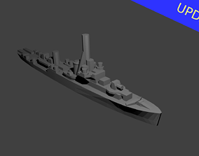 British River Class Frigate Warship 3D printable model