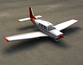 3D asset VR / AR ready Piper Cherokee