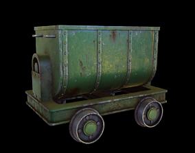 Mining cart 3D asset