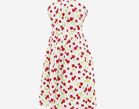 3D model Strawberry Mini Dress