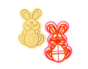 Easter bunny Cookie Cutter gingerbread 3D print model