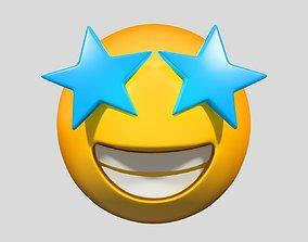 Emoji Star-Struck other 3D model