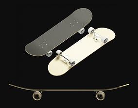 Skateboard game-ready 3D model