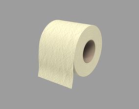 3D model Toilet paper - yellow