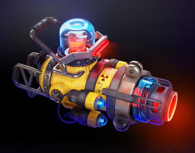 3D print model Laser Plazma gun machine gun