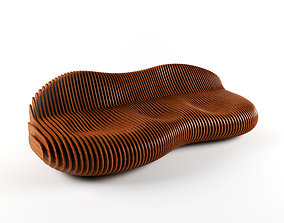 Parametric bench 3D furniture