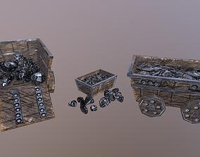 3D model Iron Mine Cart